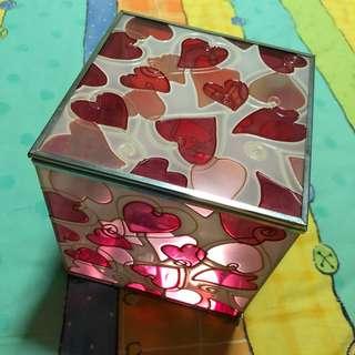 Heart Printed Accessories Box