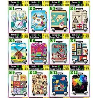 Ready Stocks 200+ Designs Luggage Cover Protector Elastic! Visit our warehouse store @ Paya Lebar MRT