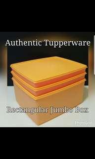 Authentic Tupperware  Rectangular Jumbo Box Set (3) 27cm  (L) × 23cm (W) Selling at $40.00/set tw