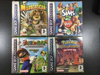 Nintendo Gameboy Advance GBA Games