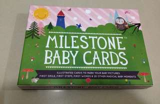 Milestone baby card mothercare