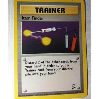 Pokemon Trainer Card Item Finder 103/130 (Good Condition)