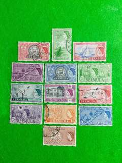 1953 Bermuda QE2 Definitive Series 13V Used Set