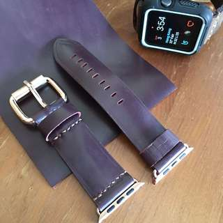 Handmade 42mm Apple Watch Strap [made to order] - Sample