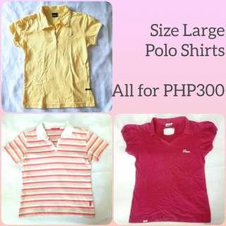 [TAKE ALL] LARGE Polo Shirts