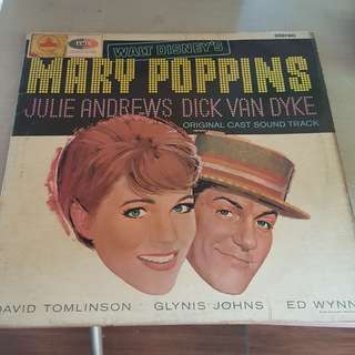 Mary Poppins Original Cast Sound Track LP Vinyl record