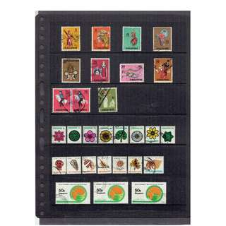 Used 5 Singapore Stamps price excluding black mounting