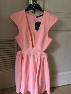 Peach Formal Cocktail Dress