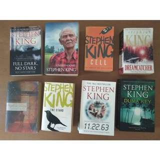 Stephen King's Full Dark, No Stars/Under The Dome/Cell/Dreamcatcher/The Shining/The Stand/11.22.63/Duma Key