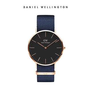 Daniel Wellington Watch DW latest 36mm rose gold bayswater navy blue NATO strap both white and black avail