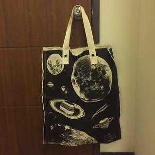 Extra Large Galaxy Design Tote Bag