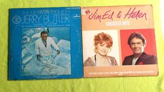JIM ED & HELEN ● JERRY BUTLER . greatest hits / the iceman cometh. ( buy 1 get 1 free )  vinyl record