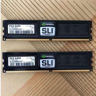 OCZ OC6400/800 2GB * 2 SLI NVIDIA DDR2 LLT