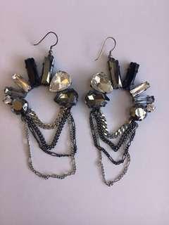 Mimco Swarovski Crystal Earrings