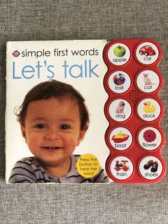 Simple First Words: Let's Talk Book