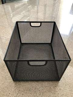 Document Filing Box Black Mesh Wire