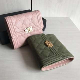 Boy Chanel Caviar Tri-fold Wallet - Duo Colours