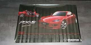 Mazda RX-8 calendar poster