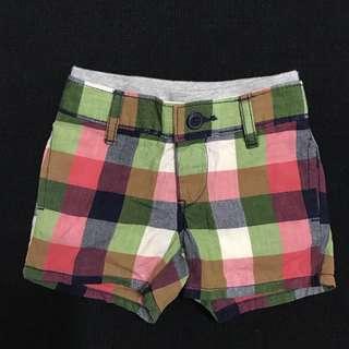 🚚 GAP 格紋休閒短褲3-6M(9成新)