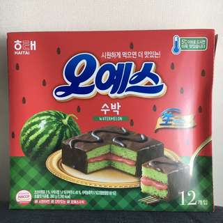 Watermelon chocopie 西瓜味