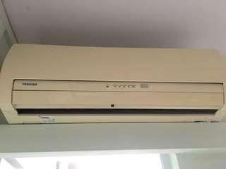 Toshiba aircon (2 units + compressor)