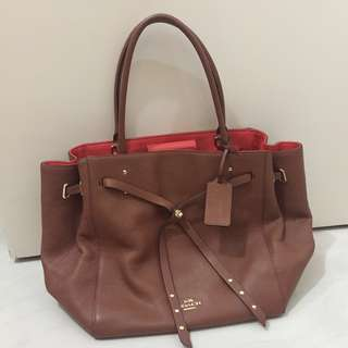 Coach leather tote bag