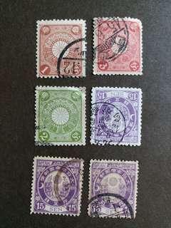 日本早期郵票 大日本已銷郵票 A001