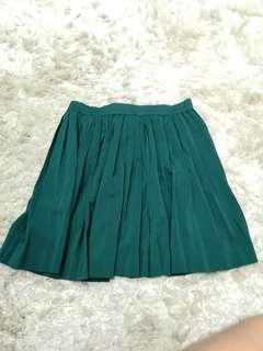 Pre Love H&M Green Skater Skirt