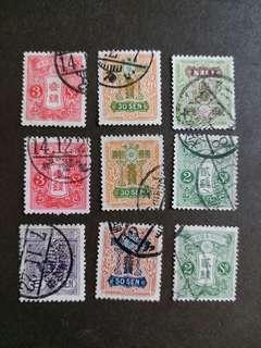 日本早期郵票 大日本已銷郵票 A002