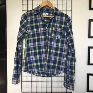 HOLLISTER Unisex Polo Flannel