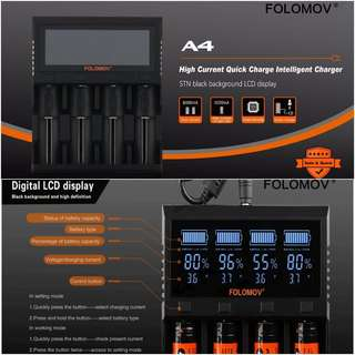 (In-Stock) FOLOMOV High Speed Universal Intelligent Charger - Lithium, Ni-MH, Ni-Cd
