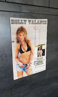 Holly Valance Footprint signature poster