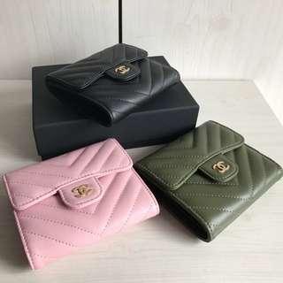 "Chanel Classic ""V"" Tri-fold Wallet"