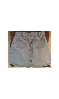 Denim A-Line Short Skirt