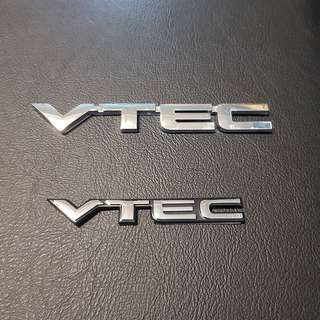 Honda Car Rear Emblem Logo VTEC