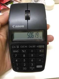 Canon 3 in 1 wireless mouse, calculator and keypad