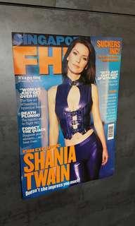 FHM magazine Shania Twain poster