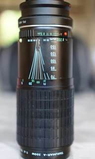 Pentax 70-200mm zoom lens continous f4