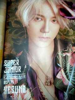 [WTS] SUPER JUNIOR 8th REPACKAGE ALBUM REPLAY SPECIAL EDITION YESUNG INDIVIDUAL POSTER