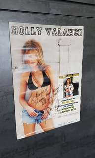 Holly Valance Footprint signature poster Perfect 10 event