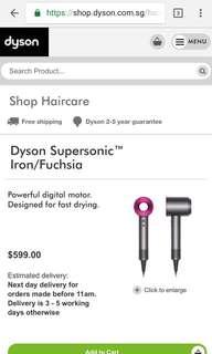 Dyson hair dryer brand new