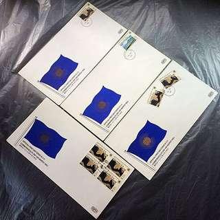 香港郵品 首日封 信封四個