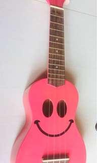 Ukulele hot pink