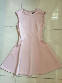 Miss selfridge nude pink dress