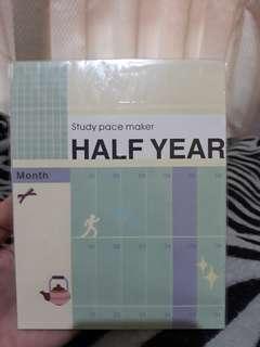 Half year planner