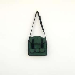 🚚 二手 墨綠 肩背 斜背 包 工具包 明太子 603