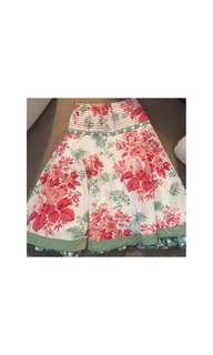Monsoon Girls Floral Print Skirt