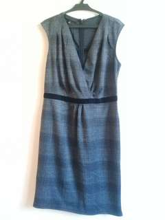 Printed office dress
