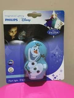 Disney Forzen Olaf 手電筒