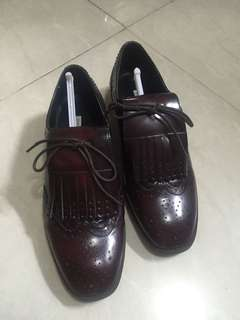 Zara leather shoes size 7